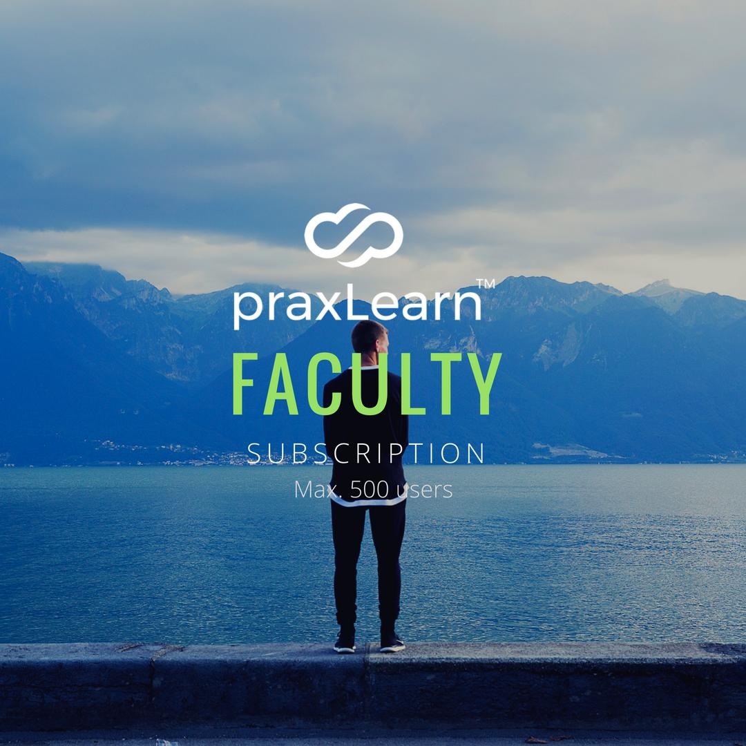 PraxLearn Faculty Subscription